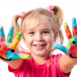 Children In Creativity - Hands Painted With Smiles