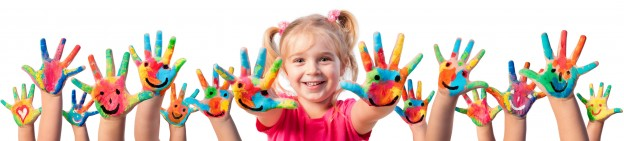 Children In Creativity – Hands Painted With Smiles