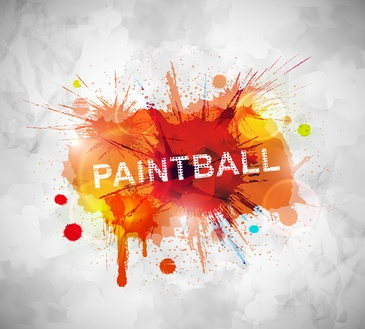 Colorful paintball banner. Eps 10